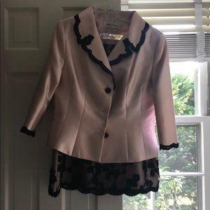Renee DuMarr Silk matching jacket and skirt sz 14
